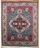 RugStudio presents Kalaty Oak 170363 Green Ivory Hand-Knotted, Good Quality Area Rug