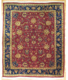 RugStudio presents Kalaty Oak 170507 Dark Red Navy Hand-Knotted, Good Quality Area Rug