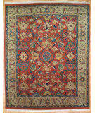 RugStudio presents Kalaty Oak 170512 Rust Navy Hand-Knotted, Good Quality Area Rug