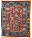 RugStudio presents Kalaty Oak 170523 Dark Red Navy Hand-Knotted, Good Quality Area Rug