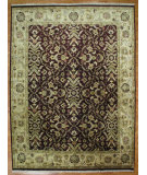 RugStudio presents Kalaty Oak 174161 Eggplant Beige Hand-Knotted, Good Quality Area Rug