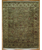 RugStudio presents Kalaty Oak 174354 Green Ivory Hand-Knotted, Good Quality Area Rug