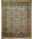 RugStudio presents Kalaty Oak 178309 Ivory Green Hand-Knotted, Good Quality Area Rug