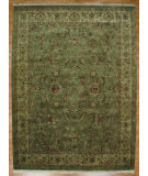 RugStudio presents Kalaty Oak 179819 Green Ivory Hand-Knotted, Good Quality Area Rug