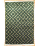 RugStudio presents Kalaty Oak 184589 Green Hand-Knotted, Good Quality Area Rug