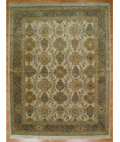 RugStudio presents Kalaty Oak 187385 Ivory Green Hand-Knotted, Good Quality Area Rug