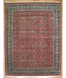RugStudio presents Kalaty Oak 214733 Tomato Green Hand-Knotted, Good Quality Area Rug