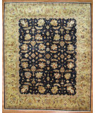 RugStudio presents Kalaty Oak 251043 Black Gold Hand-Knotted, Good Quality Area Rug