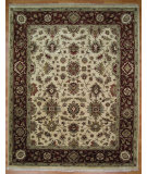 RugStudio presents Kalaty Oak 255236 Ivory Rust Hand-Knotted, Good Quality Area Rug