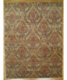 RugStudio presents Kalaty Oak 271909 Eggplant Gold Hand-Knotted, Good Quality Area Rug