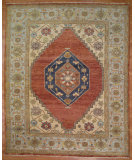 RugStudio presents Kalaty Oak 286740 Rust Light Blue Hand-Knotted, Good Quality Area Rug