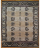 RugStudio presents Kalaty Oak 297633 Ivory Brown Hand-Knotted, Good Quality Area Rug