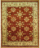 RugStudio presents Kalaty Oak 297643 Red Ivory Hand-Knotted, Good Quality Area Rug