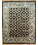 RugStudio presents Kalaty Oak 298923 Brown Ivory Hand-Knotted, Good Quality Area Rug