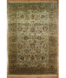 RugStudio presents Kalaty Oak 303495 Light Blue Brown Hand-Knotted, Good Quality Area Rug