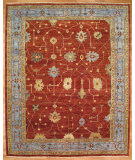 RugStudio presents Kalaty Oak 304279 Red Light Blue Hand-Knotted, Good Quality Area Rug