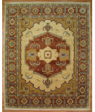 RugStudio presents Kalaty Oak 321015 Beige Rust Hand-Knotted, Good Quality Area Rug