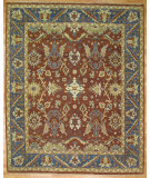 RugStudio presents Kalaty Oak 326772 Red Blue Hand-Knotted, Good Quality Area Rug