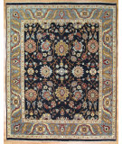 RugStudio presents Kalaty Oak 329015 Navy Blue Hand-Knotted, Good Quality Area Rug