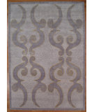 RugStudio presents Kalaty Oak 336601 Light Blue Hand-Knotted, Good Quality Area Rug