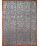 RugStudio presents Kalaty Oak 345676 Light Blue Hand-Knotted, Good Quality Area Rug