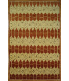 RugStudio presents Kalaty Oak 347964 Red Ivory Hand-Knotted, Good Quality Area Rug
