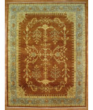 RugStudio presents Kalaty Oak 347992 Rust Green Hand-Knotted, Good Quality Area Rug