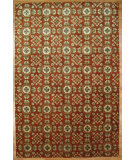 RugStudio presents Kalaty Oak 348008 Red Hand-Knotted, Good Quality Area Rug