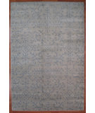 RugStudio presents Kalaty Oak 350050 Ivory Blue Hand-Knotted, Good Quality Area Rug