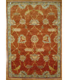 RugStudio presents Kalaty Oak 352359 Red Blue Hand-Knotted, Good Quality Area Rug