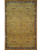 RugStudio presents Kalaty Oak 352361 Gold Blue Hand-Knotted, Good Quality Area Rug