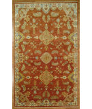 RugStudio presents Kalaty Oak 352364 Red Ivory Hand-Knotted, Good Quality Area Rug