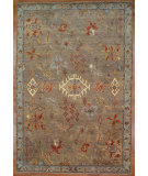 RugStudio presents Kalaty Oak 352365 Brown Blue Hand-Knotted, Good Quality Area Rug
