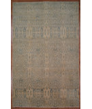 RugStudio presents Kalaty Oak 352366 Ivory Blue Hand-Knotted, Good Quality Area Rug