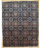 RugStudio presents Kalaty Oak 352727 Black Hand-Knotted, Good Quality Area Rug