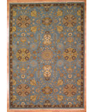RugStudio presents Kalaty Oak 353257 Blue/Brown Hand-Knotted, Good Quality Area Rug