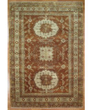 RugStudio presents Kalaty Oak 355485 Rust Ivory Hand-Knotted, Good Quality Area Rug