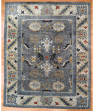 RugStudio presents Kalaty Oak 357382 Dark Gray Hand-Knotted, Good Quality Area Rug