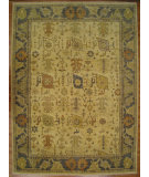 RugStudio presents Kalaty Oak 359583 Ivory Blue Hand-Knotted, Good Quality Area Rug