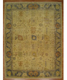 RugStudio presents Kalaty Oak 359584 Ivory Blue Hand-Knotted, Good Quality Area Rug