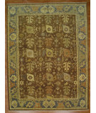 RugStudio presents Kalaty Oak 359585 Brown Blue Hand-Knotted, Good Quality Area Rug