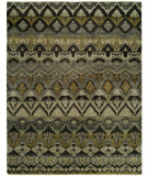 RugStudio presents Famous Maker Artisan 100053 Grey Khaki Hand-Knotted, Best Quality Area Rug