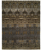 RugStudio presents Famous Maker Artisan 100055 Grey Brown Hand-Knotted, Best Quality Area Rug