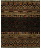 RugStudio presents Famous Maker Artisan 100056 Black Rust Hand-Knotted, Best Quality Area Rug