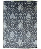 RugStudio presents Famous Maker Barton 100794 Smoke Hand-Knotted, Best Quality Area Rug