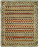 RugStudio presents Famous Maker Barton 100798 Flame Multi Hand-Knotted, Best Quality Area Rug