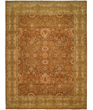 RugStudio presents Famous Maker Carolton 100881 Brown Ivory Hand-Knotted, Best Quality Area Rug