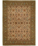 RugStudio presents Famous Maker Carolton 100882 Ivory Gold Hand-Knotted, Best Quality Area Rug