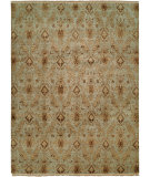 RugStudio presents Famous Maker Carolton 100883 Light Blue Hand-Knotted, Best Quality Area Rug