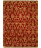 RugStudio presents Famous Maker Carolton 100884 Red Hand-Knotted, Best Quality Area Rug